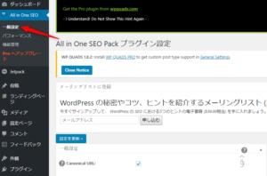 All in One SEO Packの設定方法参考画像